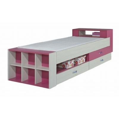 Dětská postel s úložným prostorem Adéla - růžová 080840