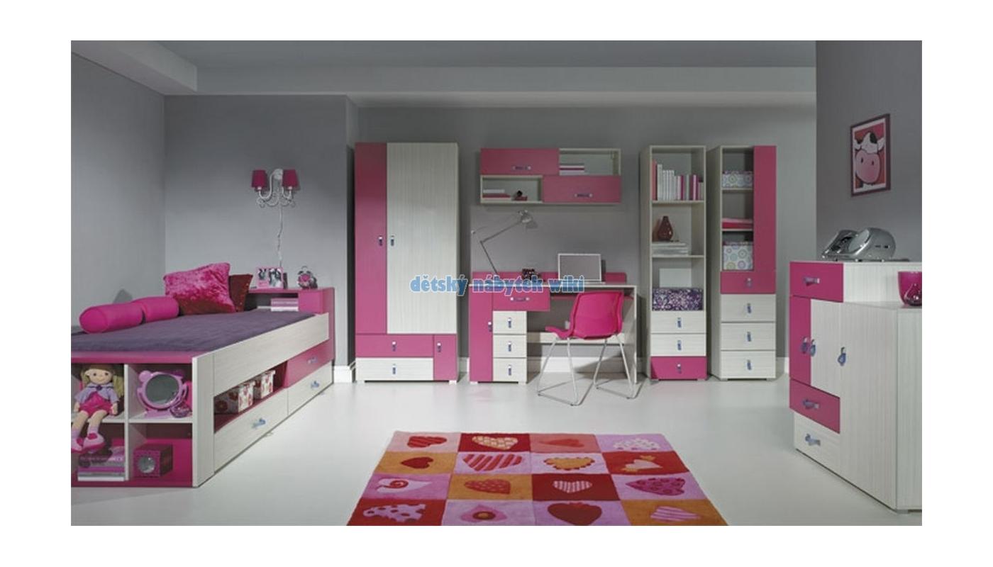 2fa89606b567 Patrova posteľ pre dievča do izbičky s úložným priestorom