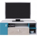Studentský televizní stolek PHILOSOPHY - bílá / modrá