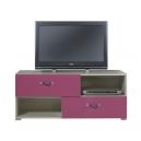 Televizní stolek Adéla X - růžový