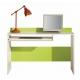 zelený psací stůl