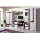 Detská izba Delbert A1 - fialový alebo popolovej odtieň