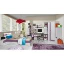 Detská izba Delbert B - fialový alebo popolovej odtieň