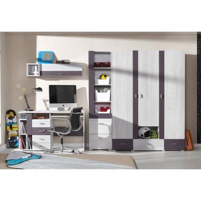 Dětský pokoj Delbert C1 - fialový nebo popelový odstín