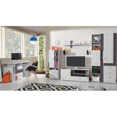 Dětský pokoj Delbert D- fialový nebo popelový odstín
