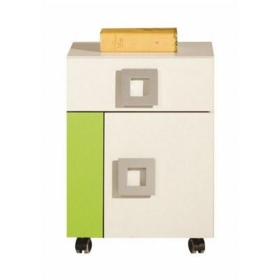 Kontejner na kolečkách  - oranžová, modrá nebo limetka