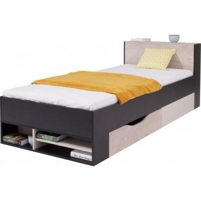 Studentská/dětská postel PHILOSOPHY - černá / béžová