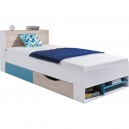 Studentská/dětská postel PHILOSOPHY - bílá / modrá