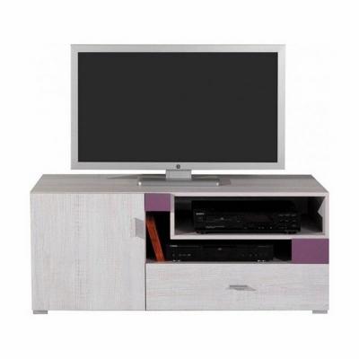 Televizní stolek Delbert 12 - fialová nebo popelová barva