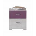 Noční stolek Delbert 17 - fialová nebo popelová barva