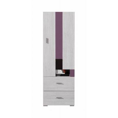 Nízká skříň Delbert 8 - fialová nebo popelová barva