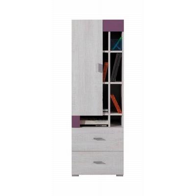Nízká skříň Delbert 9 - fialová nebo popelová barva