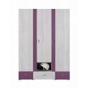 Šatní skříň Delbert 1 - fialová nebo popelová barva