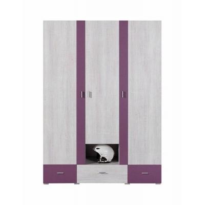 Šatní skříň Delbert 1 - fialová nebo popelová barva 1181068