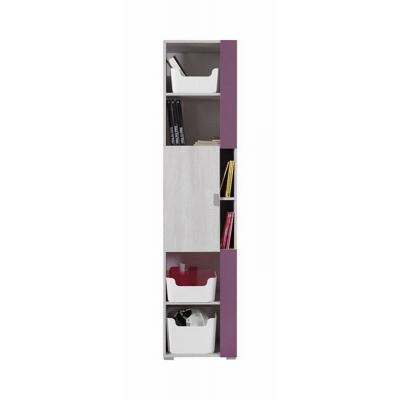 Úzká skříň Delbert 6 - fialová nebo popelová barva 1181147