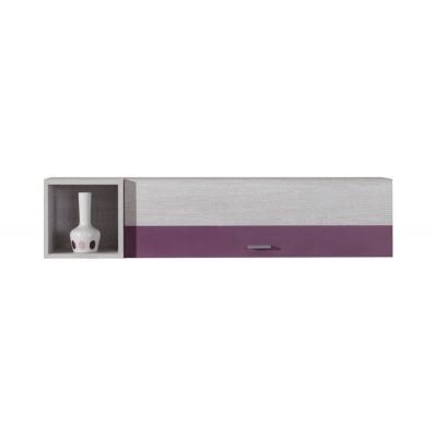 Závěsná skříňka Delbert 14 - fialová nebo popelová barva