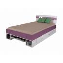 Detská posteľ Delbert 120x200 - fialová alebo popolníkové farba