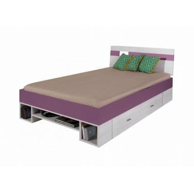 Dětská postel Delbert 120x200 - fialová nebo popelová barva