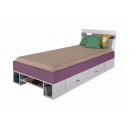 Detská posteľ Delbert 90x200 - fialová alebo popolníkové farba