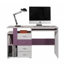 Písací stôl Delbert 13 - fialová alebo popolníkové farba