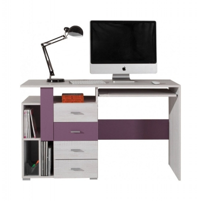 Psací stůl Delbert 13 - fialová nebo popelová barva