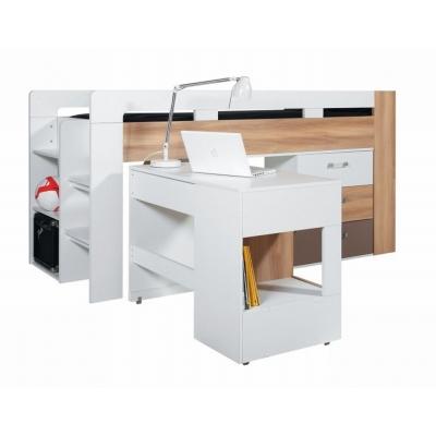 Dětská vyvýšená postel s psacím stolem Anabel 080802
