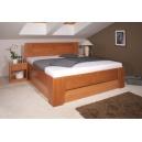 Masivní postel s úložným prostorem Olympia 3-80