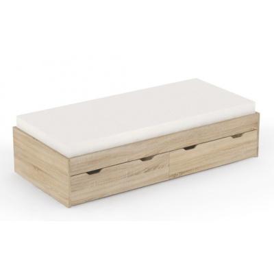 Dětská postel s úložným prostorem REA Misty 90x200cm - dub bardolino