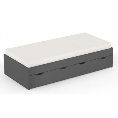 Dětská postel s úl. prostorem REA Misty 90x200cm - graphite