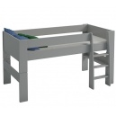 Vyvýšená postel Dash 90x200 cm - šedá