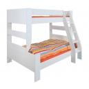 Rozšířená postel Dash 90+120x200 cm - MDF/bílá