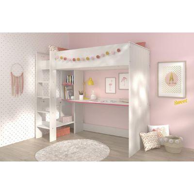 Detská poschodová posteľ Smoozy - modrá, ružová