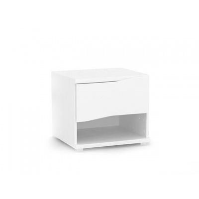 Noční stolek REA Wave 1 - bílá