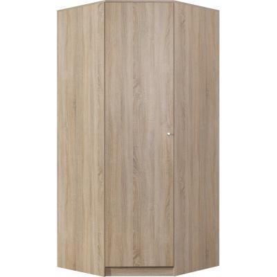 Rohová šatní skříň Basic - dub sonoma nebo trufla