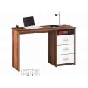 Písací stôl slivka / biely