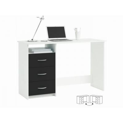 Psací stůl černá/bílá