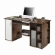 PC stůl SALDO -  ořech/bílá