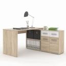 Písací stôl RAFAEL - dub sonoma / biela