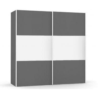 Široká šatní skřín REA Houston up 3 - graphite