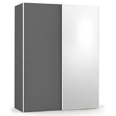 Šatní skřín se zrcadlem REA Houston 1 - graphite