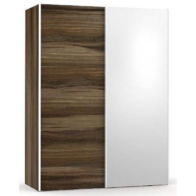 Šatní skřín se zrcadlem REA Houston 1 - ořech