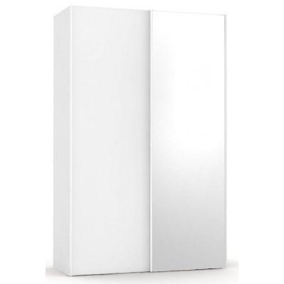 Šatní skřín se zrcadlem REA Houston 4 - bílá