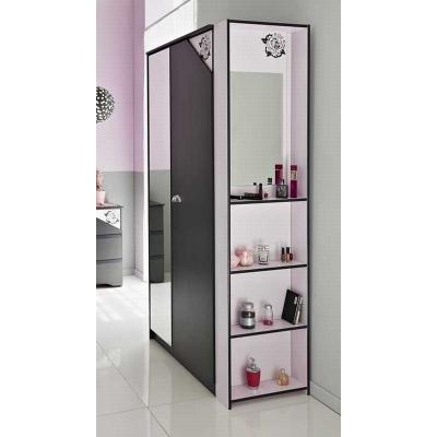 Dětská toaletka Manuella - černá/bílá/růžováová