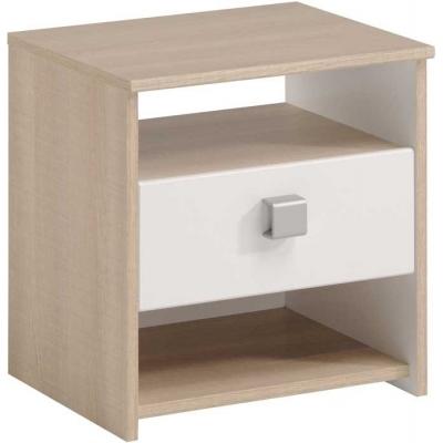 Dětský noční stolek Rytmus - dub/bílá 300622