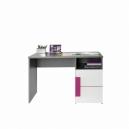 Detský písací stôl Polo - sivá/biela/fialová