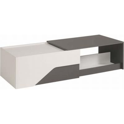 Konferenční stolek Dixie - bílá/šedá