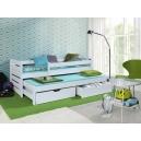 Detská posteľ s prístelkou - biela