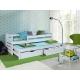 Dětská postel s přistýlkou - bílá