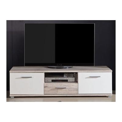 Televizní stolek Sunny - dub pískový/bílý