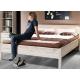 Detská postel' so šuplíkom Manuella 90x200 - čierna/biela/růžová